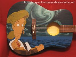 Monkey Island Guitar by Maya-Plisetskaya