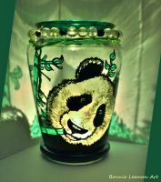 Happy Panda Candle Jar by Bonniemarie