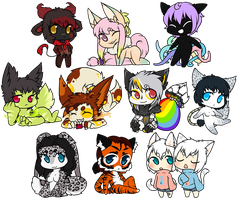 Tiny Chibis 2! by LovelessKia
