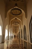 Qatar - State Mosque 02 - Entry Hall (Color) by GiardQatar