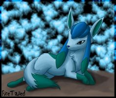 Glaceon the ice queen by FireTailed
