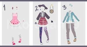 [Auction][CLOSED] Outfit Batch 9 by hito-chan19