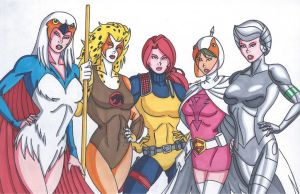 Cartoon Heroines by RobertMacQuarrie1