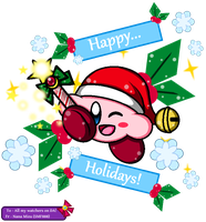 Gift to ALL my Watchers - Christmas Kirby by SuperMarioFan888