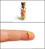 Sour Gummy Worms Bottle Charm by Bon-AppetEats