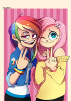 Friendship is ossom by Stuppid-Bunny