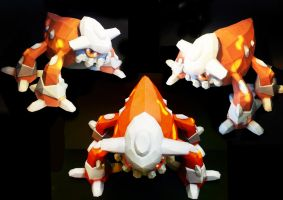 Heatran Papercraft by thepapersmith