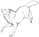 Free lineart - wolf 2 by Kipine