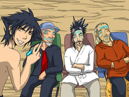 For the KH Summer Contest: Van and the Old Men by Dark-Momento-Mori