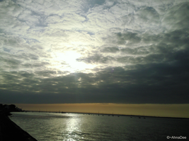 Isle of Wight sky by AhnaDee
