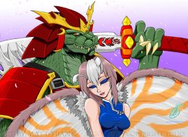 Beast and Beauty by KaijuSamurai