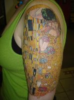 Klimt Half Sleeve Tattoo by strange-cat