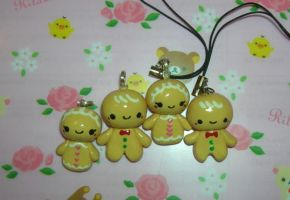 Ginger Bread charms by kneazlegurl125