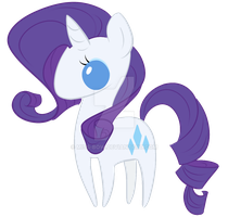 CHIBI RARITY by Miss-Bow