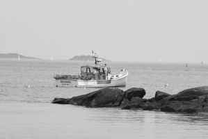 Crab Hunting Boat, Calm Ocean 3 by Miss-Tbones