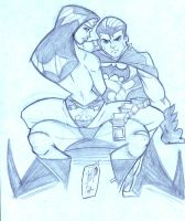 Batman and Wonder Woman by JazzRy
