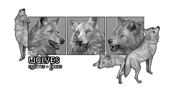 Wolves: Sprites and Icons by AshKerins