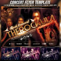 PSD Amazing Concert Flyer Template by retinathemes