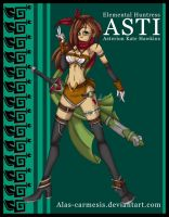 .:: Elemental Huntress Asti ::. by Alas-Carmesis