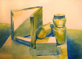 Watercolor Still life of Misc Stuff by Mysticalpchan