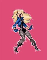 work in progress black canary by melivillosa