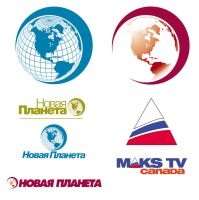 logos for new planet and maxtv by sounddecor