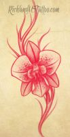 Orchid Tattoo Design by jacksonmstattoo