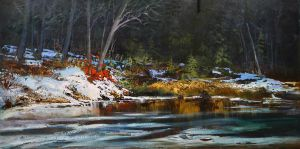The Banks of Priddis Creek by artistwilder