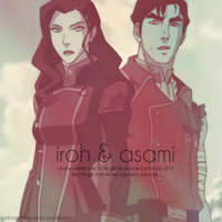 Iroh II and Asami Sato by drowningoatmeal