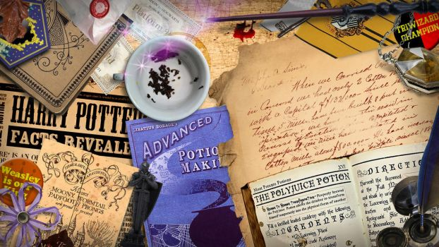 Harry Potter Desk Wallpaper and Gmail Theme by Bamberos