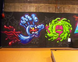 screaming hand and slimeballs by RietOne