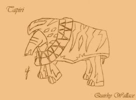 MLP: FiM Where The World Ends Tapiri Design by QuirkyWallace