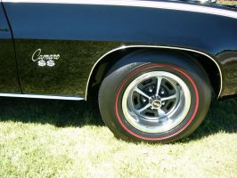 1969 Camaro SS Sport Wheel-Red Line Tire-SS Badge by RoadTripDog