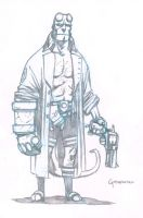 Hellboy pencils by scottygod