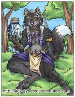 Wolf with a Fae Jar by lady-cybercat