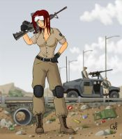 Army Girl by Cel642