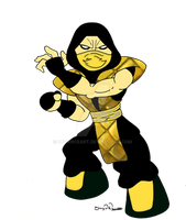 chibi Scorpion Classic by DeVanceArt