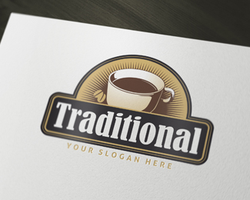 Traditional Coffee Logo by domibit