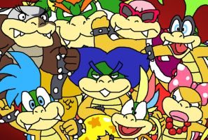 Koopa Family Photo by HoppyBadBunny