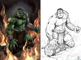 World War Hulk Colors by aladecuervo
