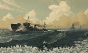IJN destroyer Oite by U-Joe