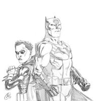 Batman and Robin by benjtendo