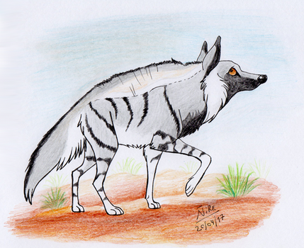 Minute Animals 1: Stripped Hyena by Nothofagus-obliqua