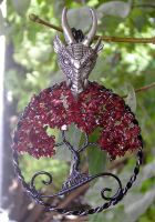 'Fire and Blood' (Version Two) *SOLD* by RachaelsWireGarden