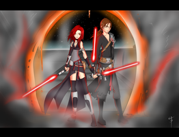 Sith Lords Anima and Fenrir by animeaddict519