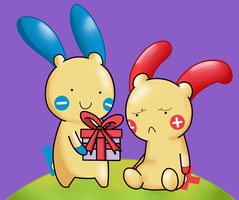 Plusle and Minun (2) by ice-cream-skies