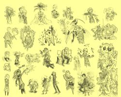 Persona 4 sketchpage by VanRipper