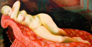 on a couch by onon