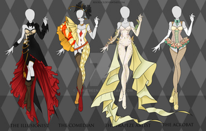 (CLOSED) Adoptable Outfit Auction 30-33 by Risoluce