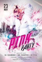 Pink Party Flyer by styleWish